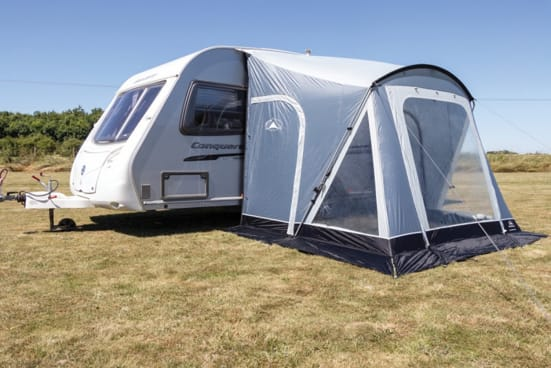 picture of a porch awning on a caravan