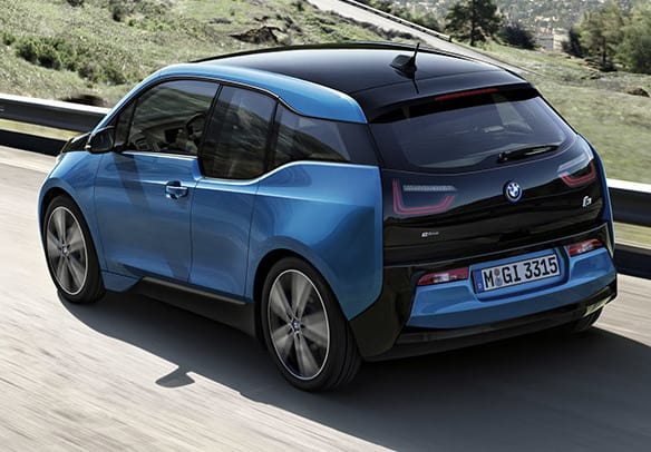 picture of blue BMW i3
