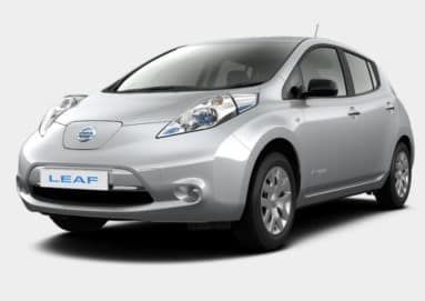 picture of grey Nissan Leaf