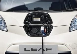 Nissan Leaf charge point
