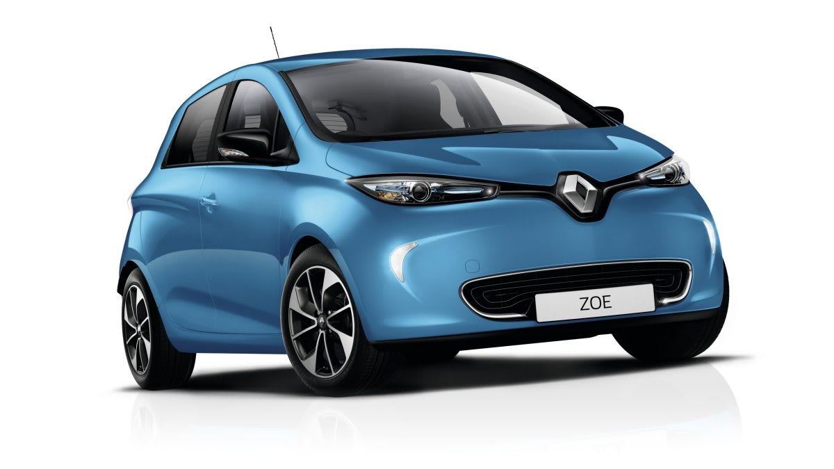 picture of blue Renault Zoe