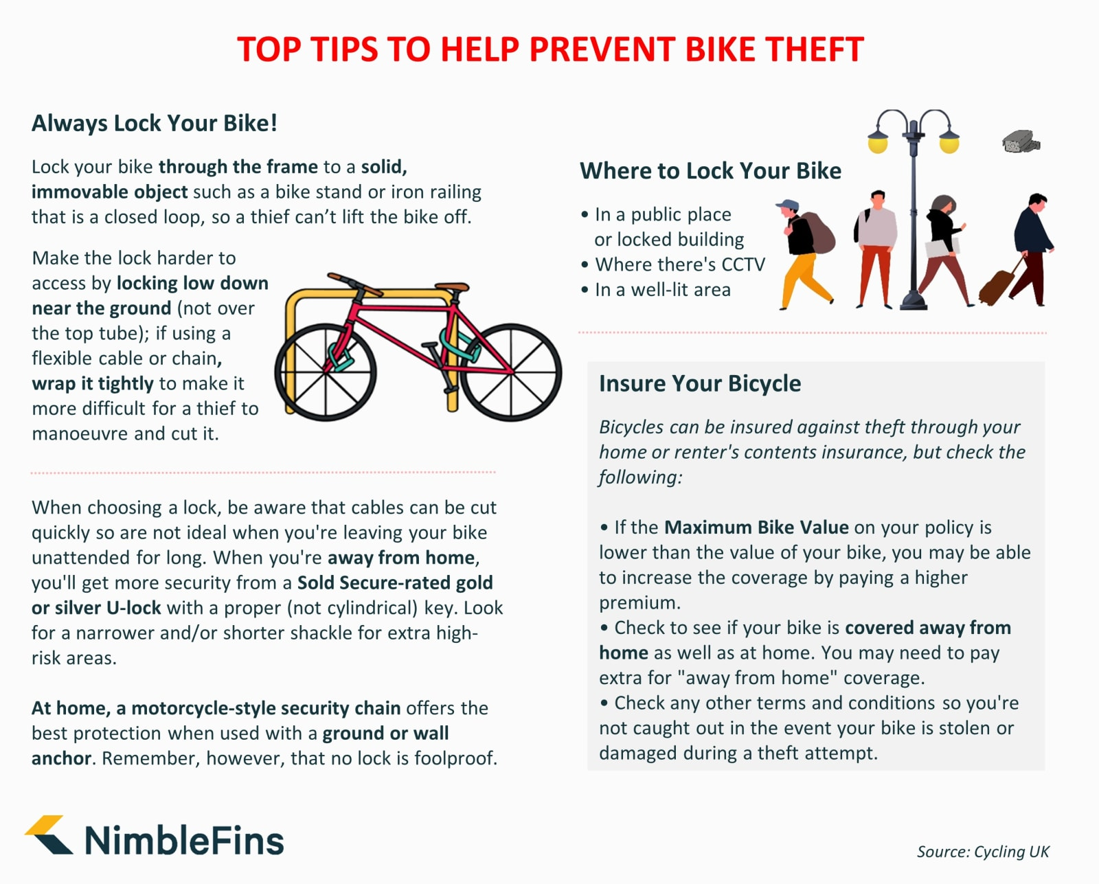 Bike theft tips infographic