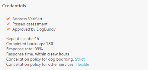 DogBuddy Credentials
