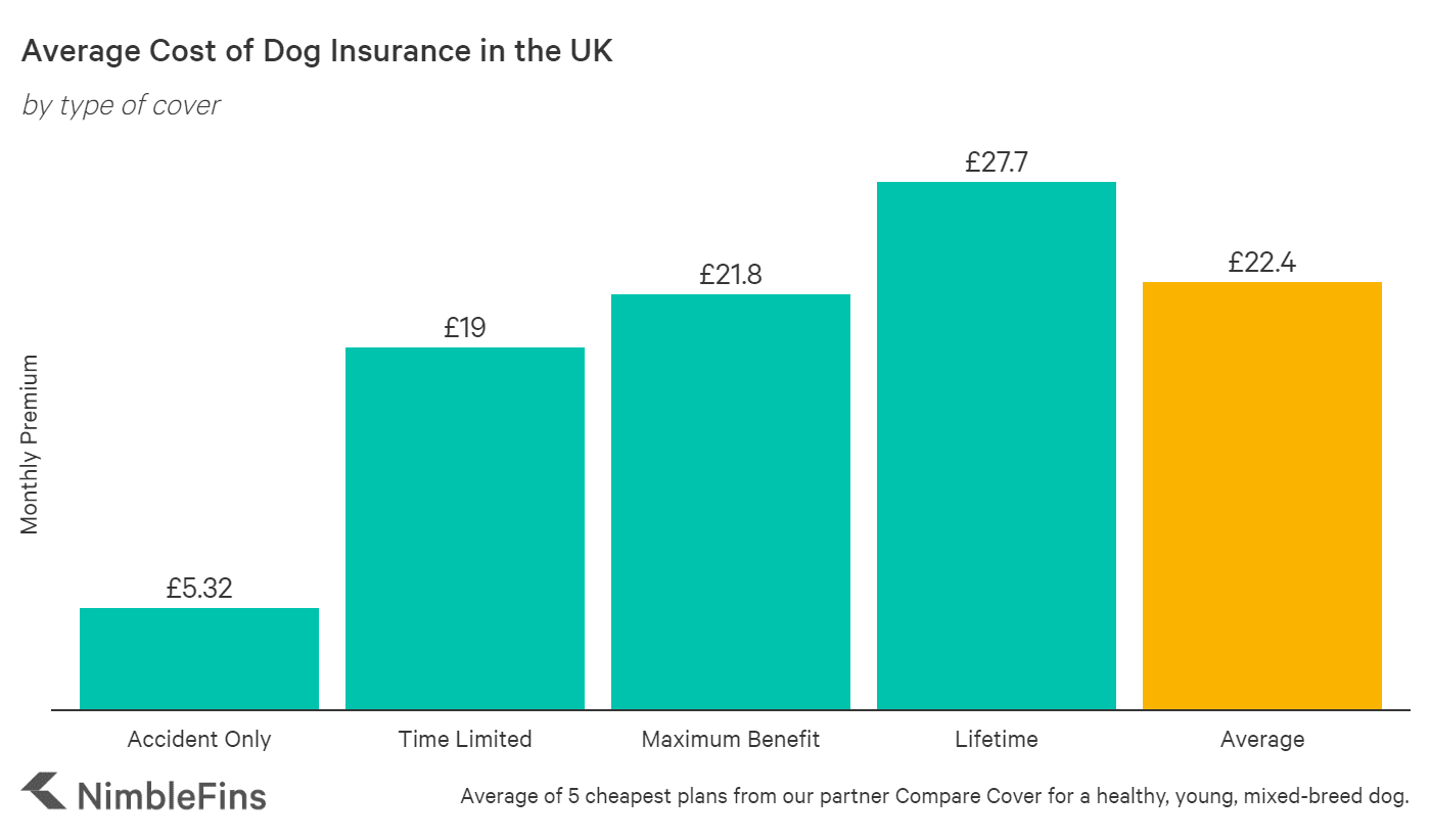 chart showing how much pet owners will pay for dog insurance per month