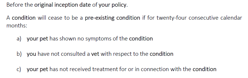 picture showing that VetsMediCover will cover pre-existing conditions