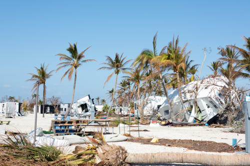 image of hurricane-ravaged beach