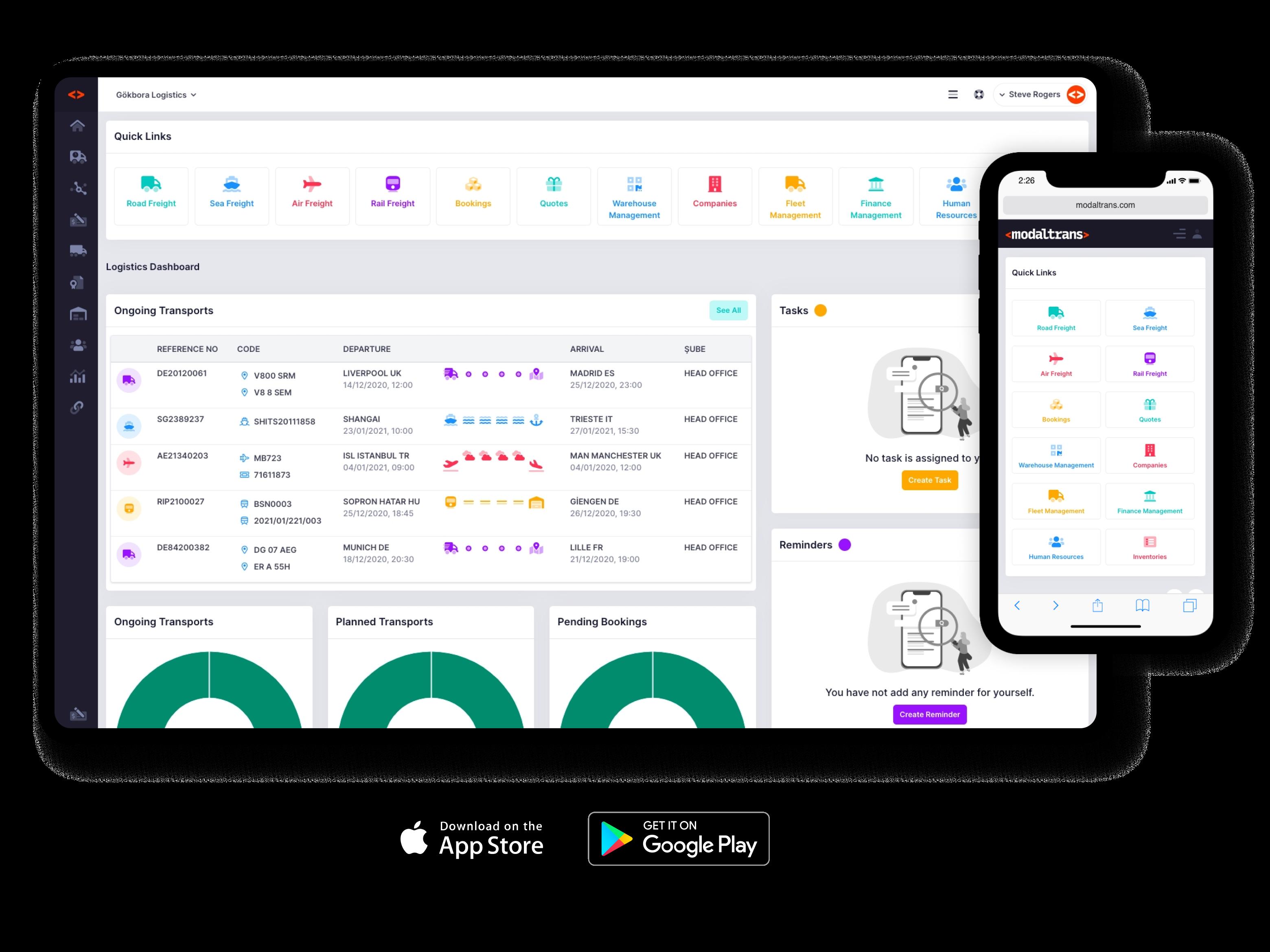 Modaltrans works on every mobile, desktop device