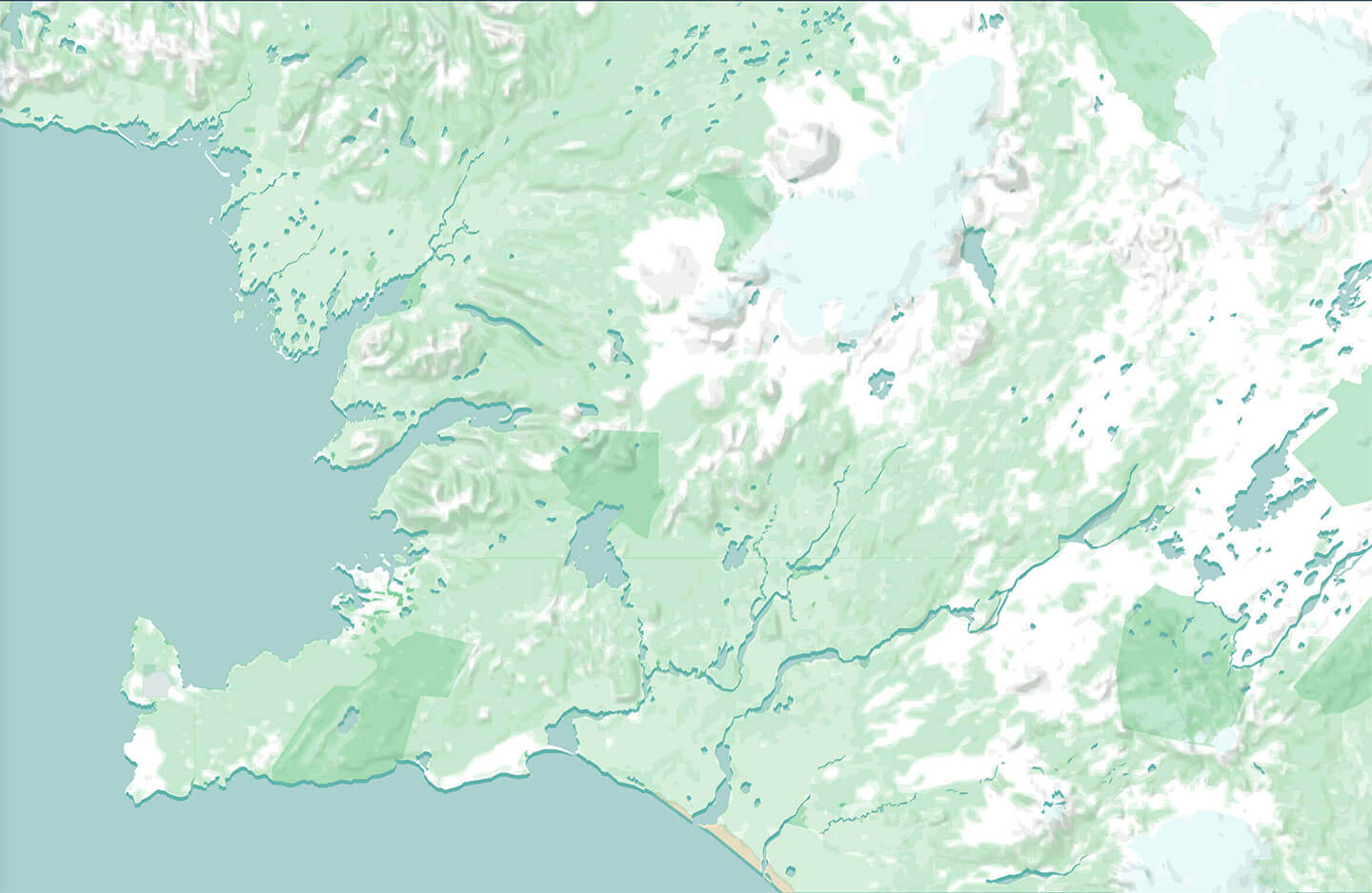 WIP Map of Iceland designed by Nimit Shah