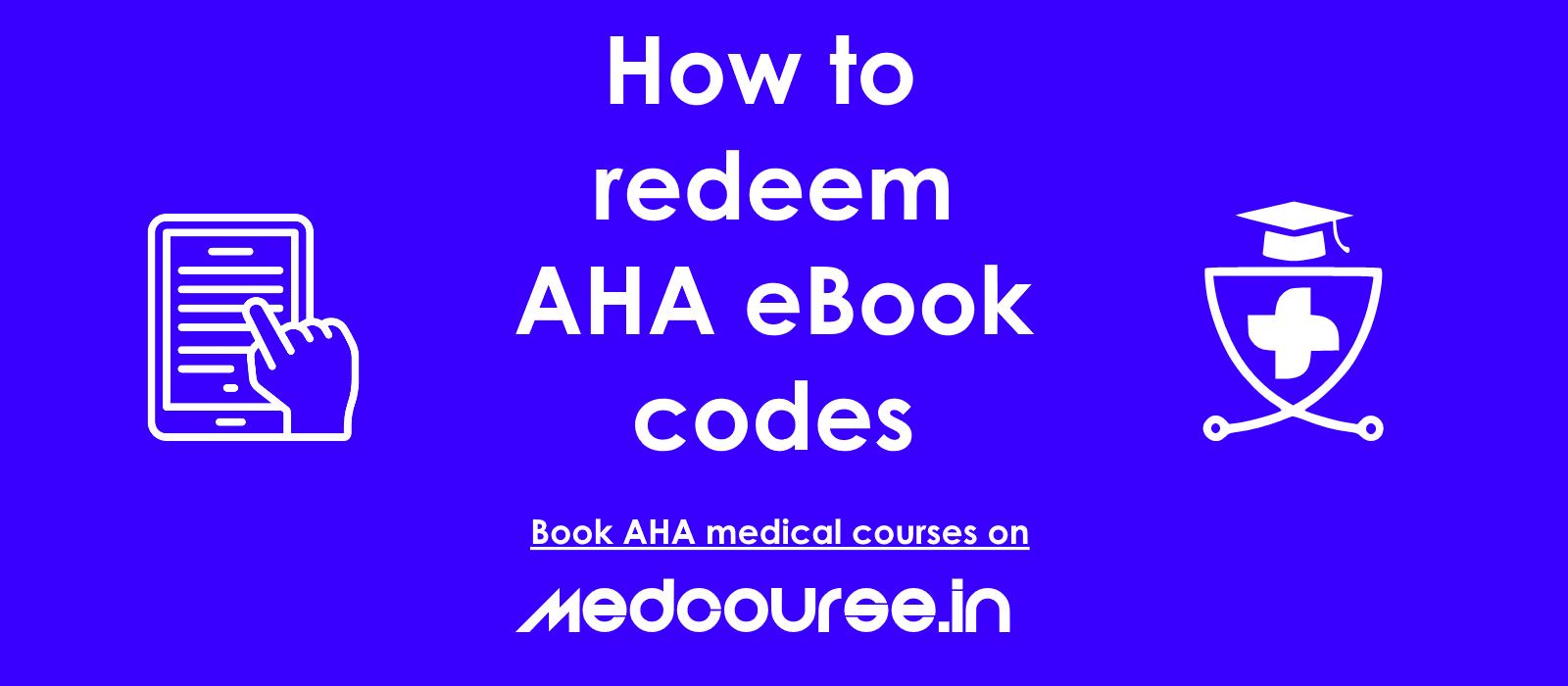 How to redeem AHA ebook
