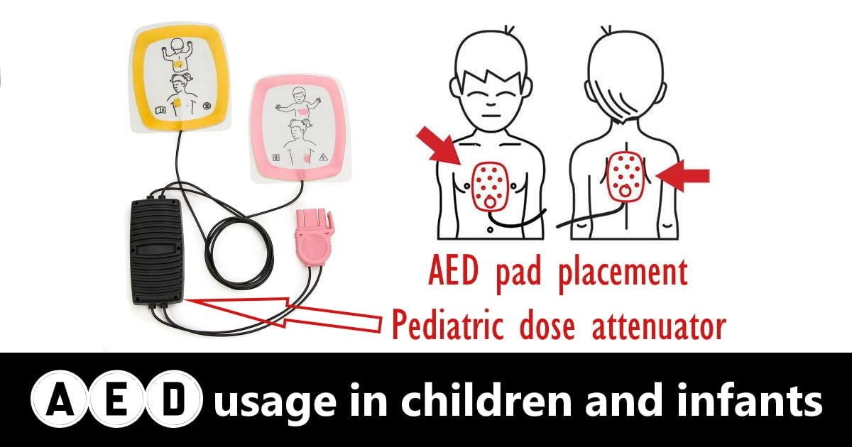 AED usage in children