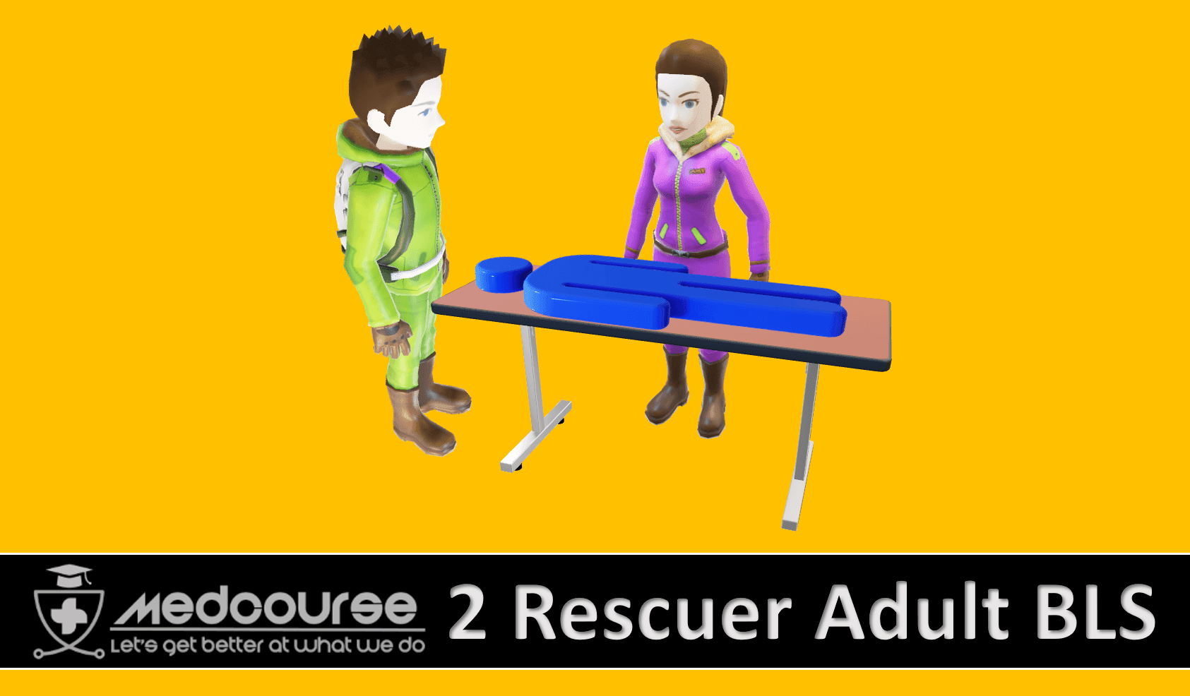 two rescuer adult bls