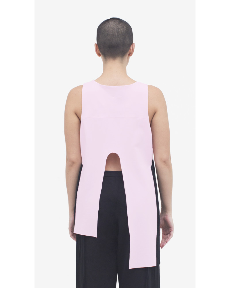Harold Asymmetrical Top in Pink, Rupture, Allergic