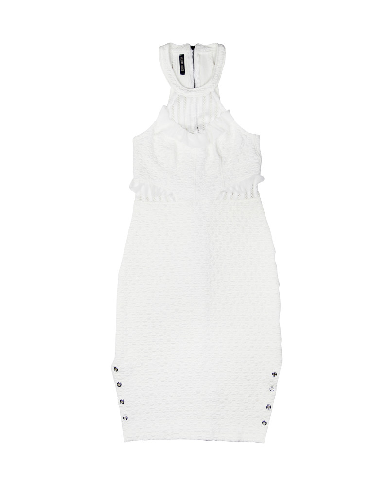 White Mixed Media Dress, Spellbound, Meghan Hughes