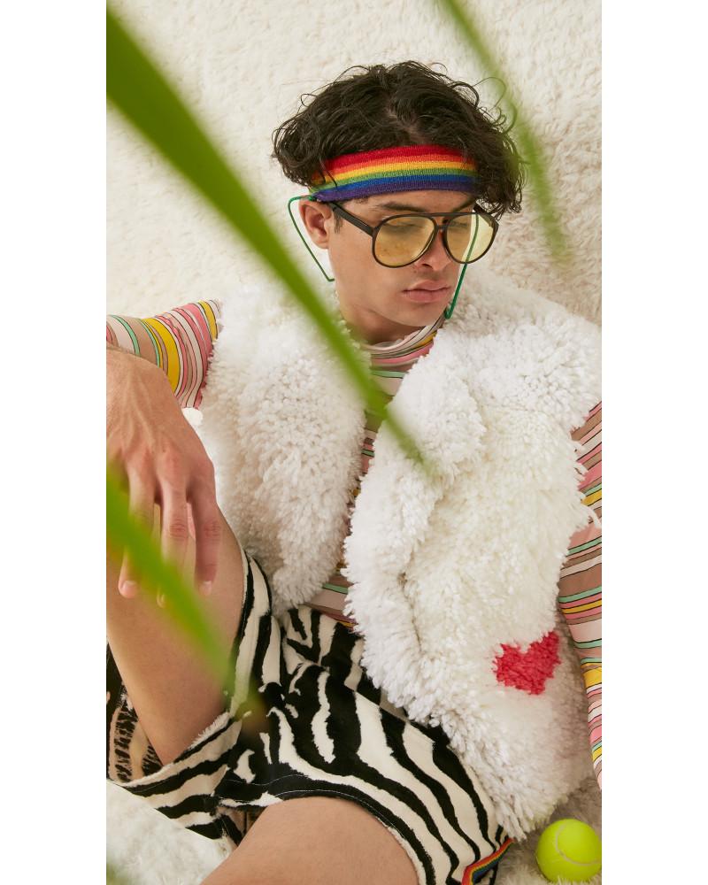 Zebra Faux Fur Sweatshort, S/S18: FIFTEEN, LOVE!, Adam Dalton Blake