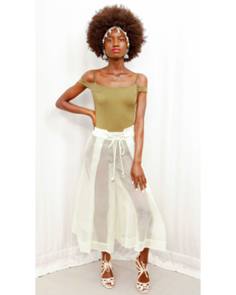 Cropped Sheer Pant, MERGE, K.Stevens
