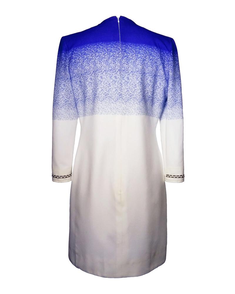 Blue Print Silk Dress, Modern baroque RTW Part 2, Chanho Jang