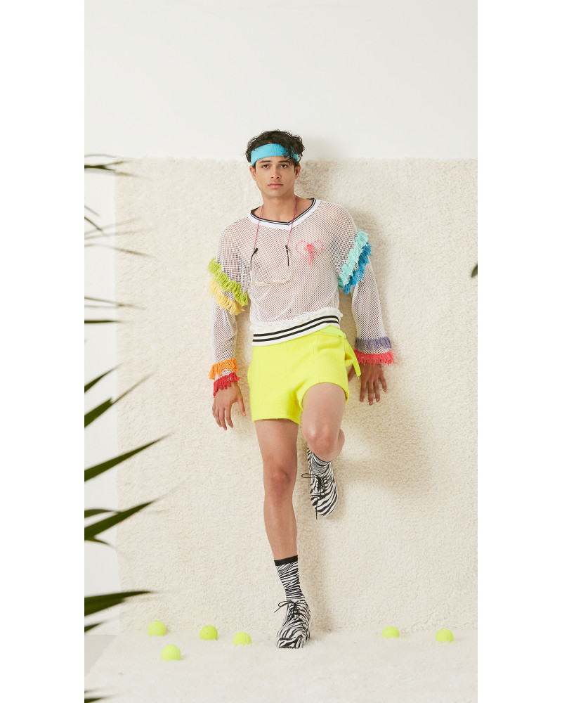 Tennis Wool Short Shorts, S/S18: FIFTEEN, LOVE!, Adam Dalton Blake