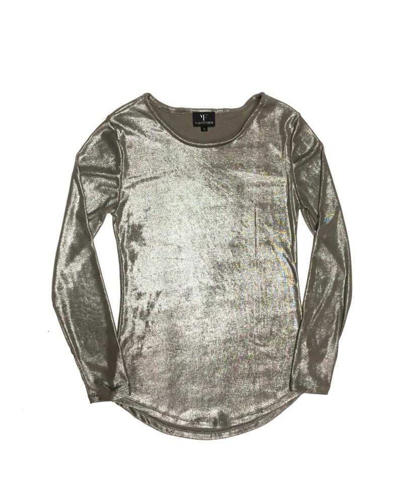 Luna Metallic Long Sleeve Top, Holiday Glow, VARYFORM