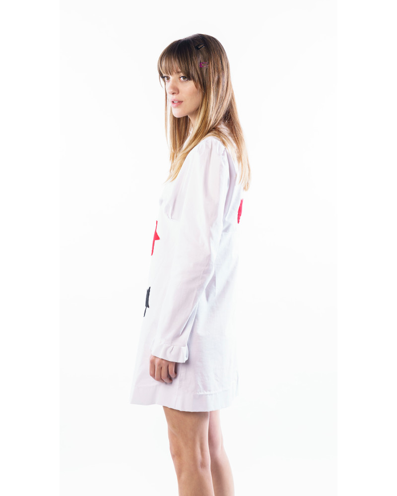 STAR APPLIQUE White Sparky Mini Dress, COLLECTION 5 - MINI CAPSULE, THIS IS SLOANE