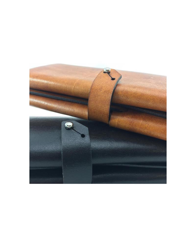 [ milano ] Leather Wallet [ Orange ], Ángulo, Ángulo