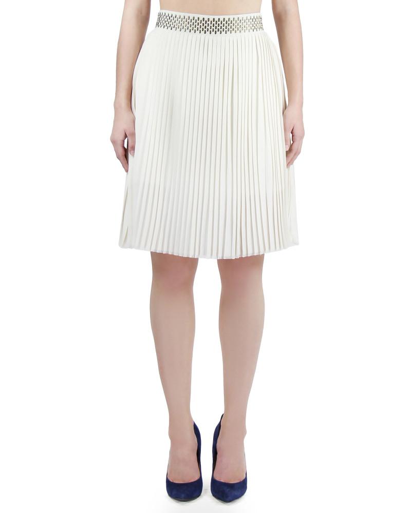 Pleated A Line Zipper Skirt, Modern Baroque, Chanho Jang