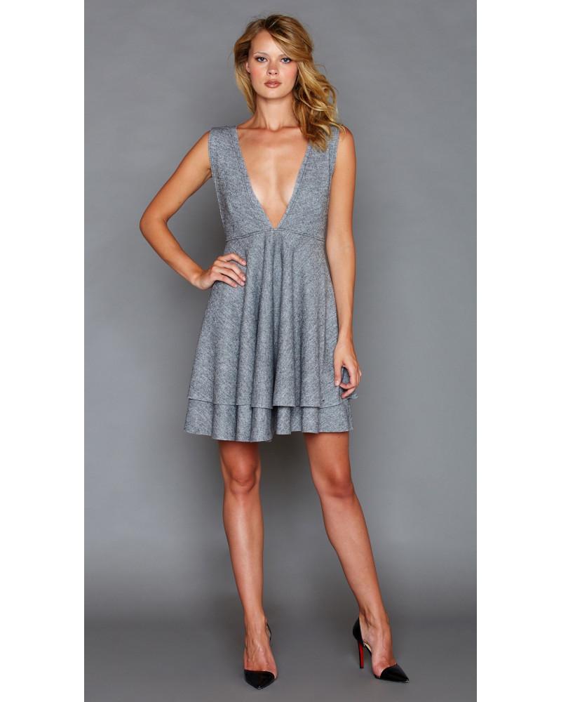 Leah Grey Dress, FALL- WINTER 2016, Graciela Rivas