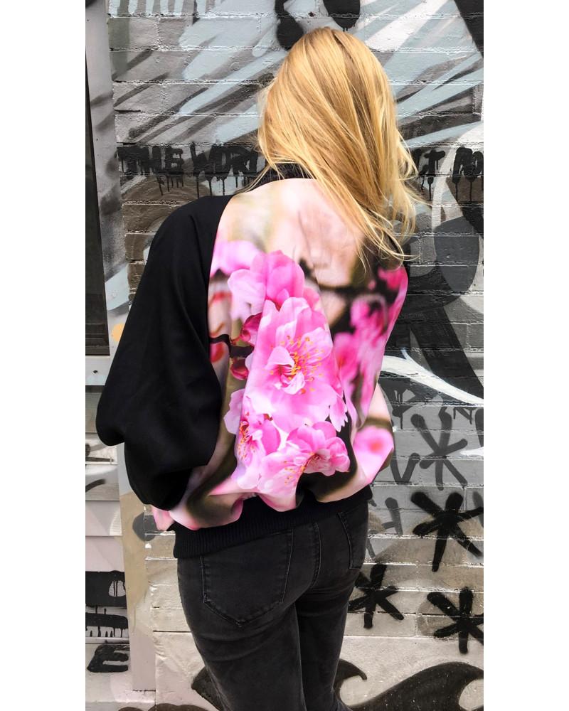 Unisex Sakura Bomber, Unisex urban nature bomber jackets, Kaer