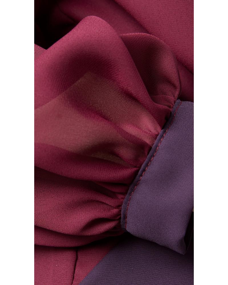Purple Tie Blouse, Remix, Meghan Hughes
