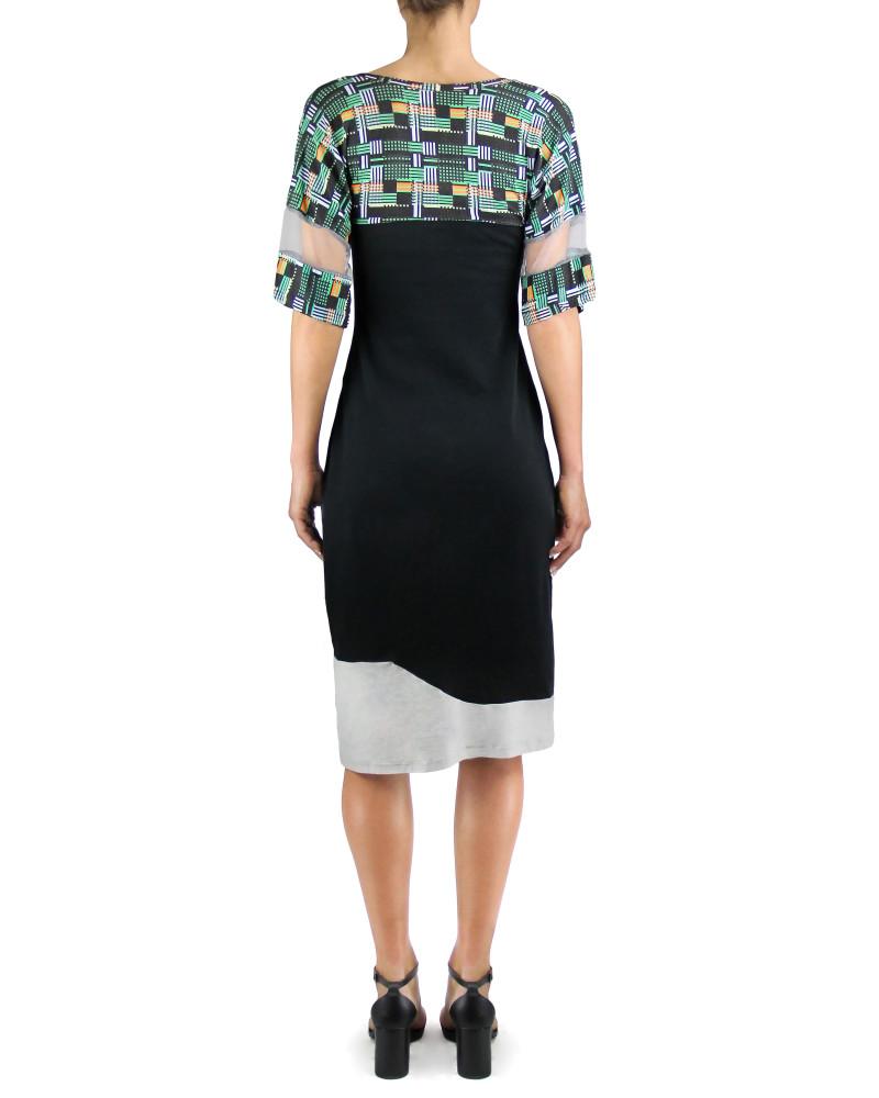 Panelled Print T-Shirt Dress, Twisted City Tartan, Aimee Kent