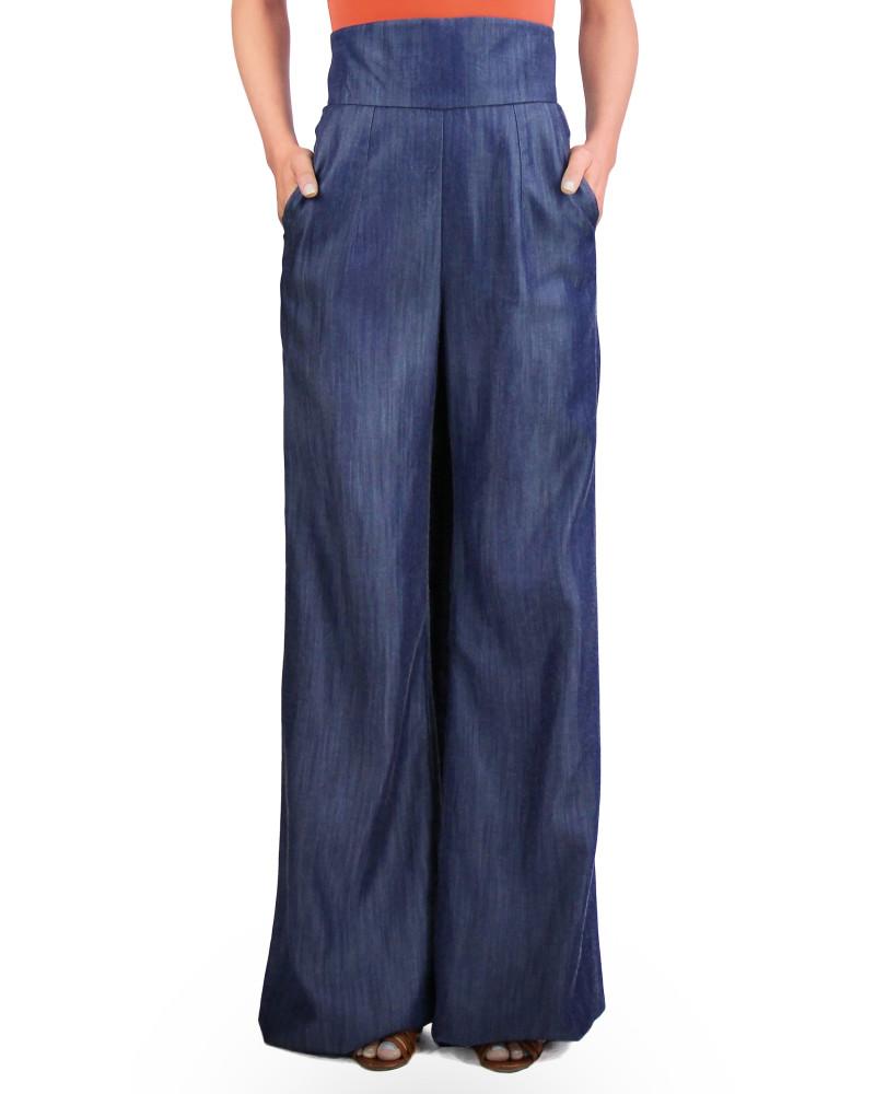 High-Waist Wide-Leg Pant, Girl From Ipanema, Jovan OConnor