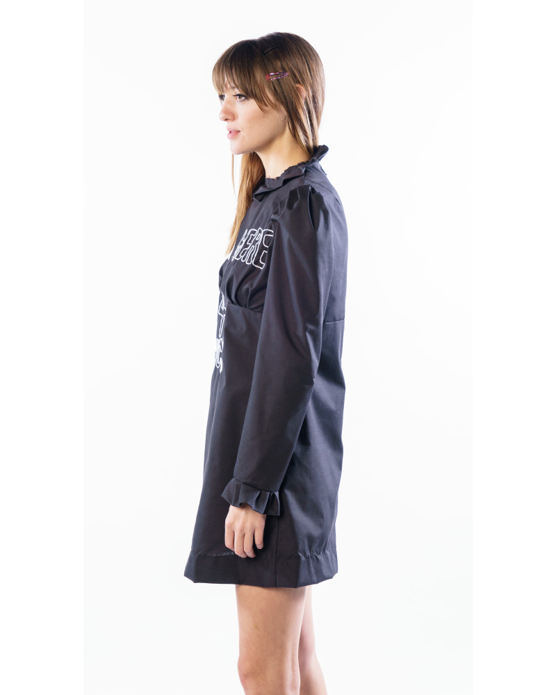 I'M HERE FOR LUCK Black Sparky Mini Dress, COLLECTION 5 - MINI CAPSULE, THIS IS SLOANE