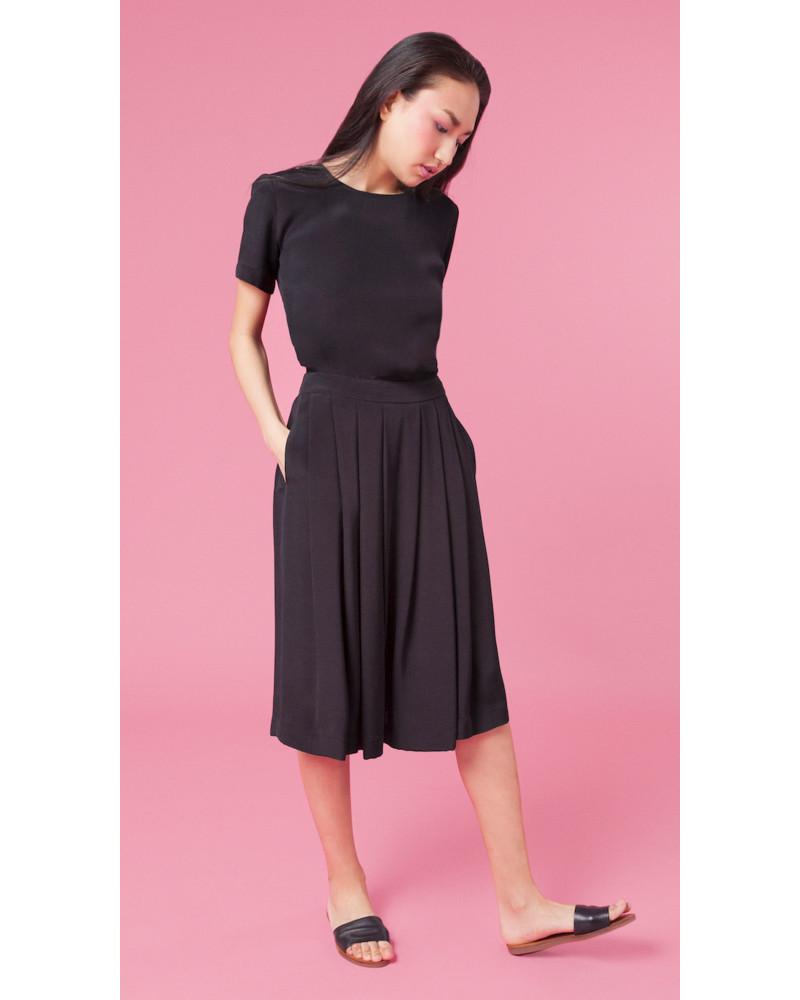 Lauren Pleated Silk Skirt, Overture, Aline Voldoire