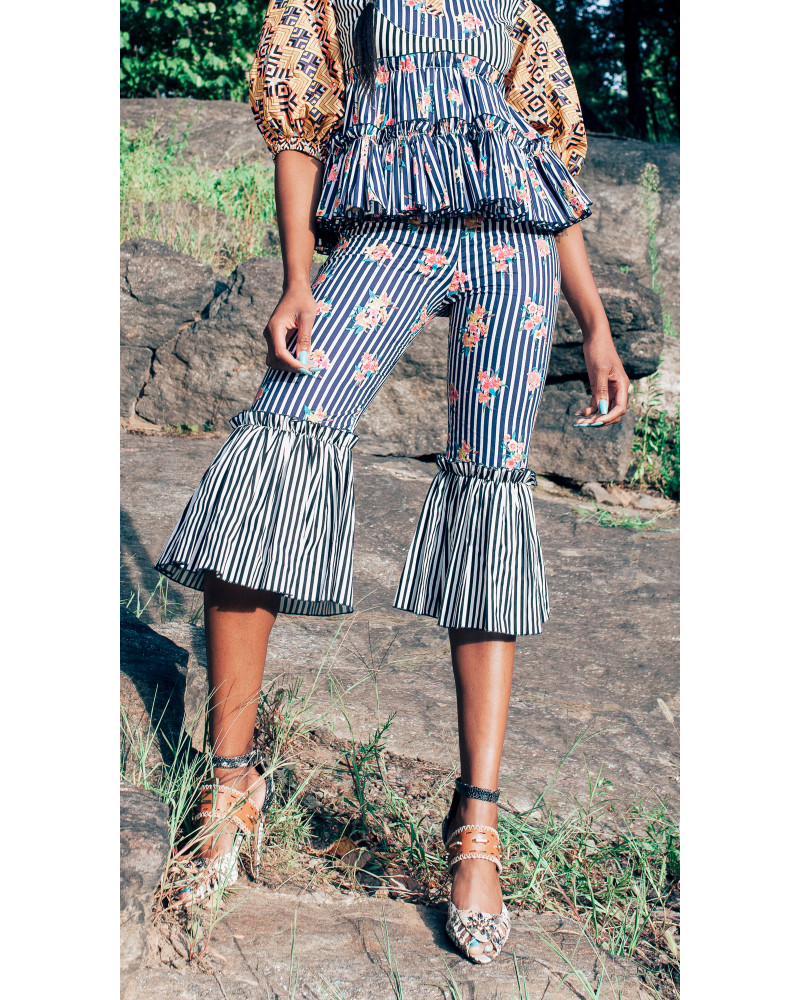 Afri Multi Cropped Pant, Solstice Delivery One, Bohn Jsell Collections
