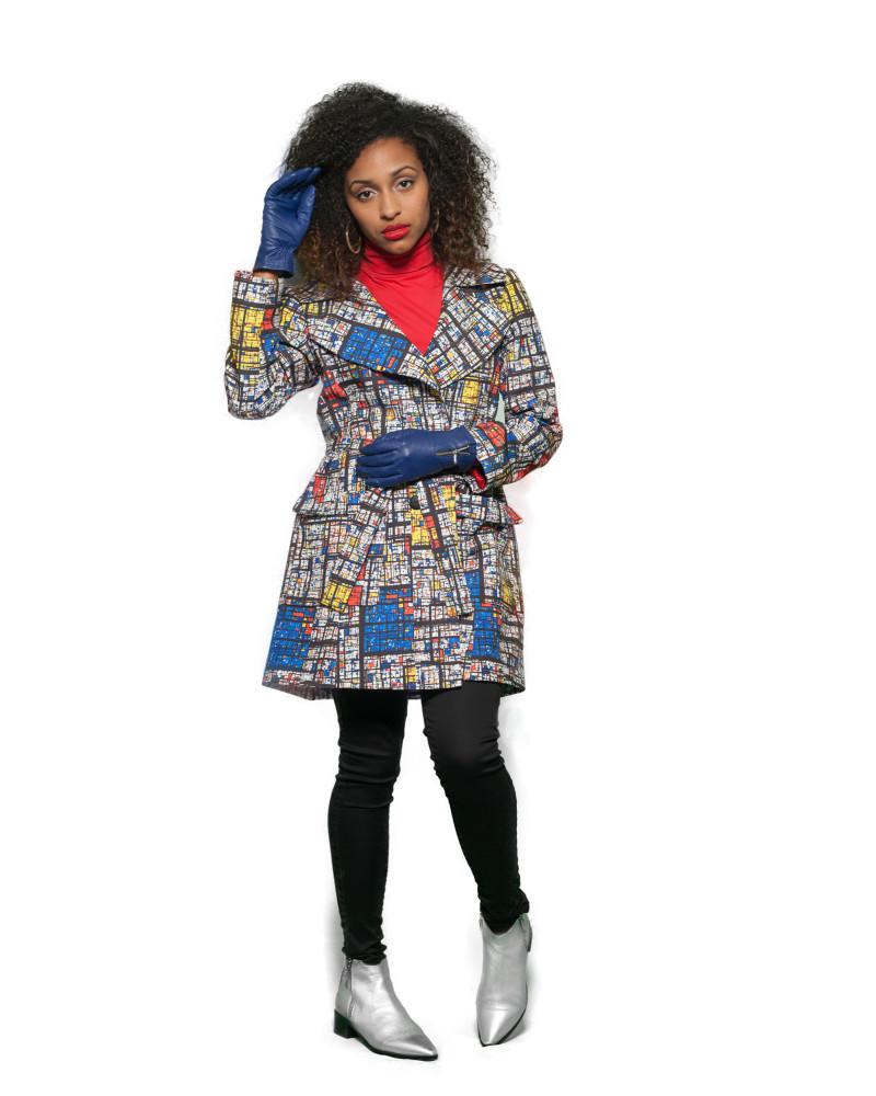 Mondrian Madness Trench, Starry Nights Coat, Pariah5k