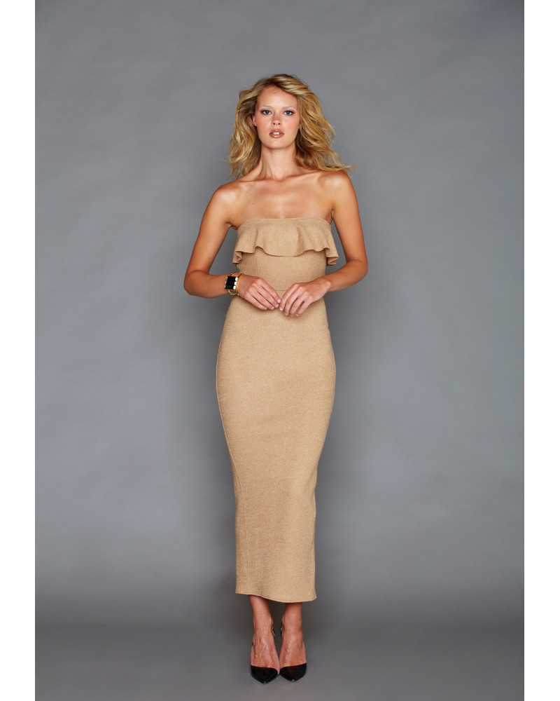 Carolina Tan Dress, FALL- WINTER 2016, Graciela Rivas