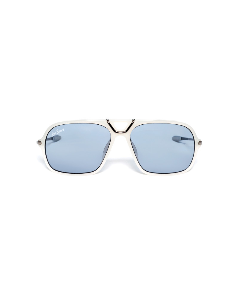 Game Changer Squared Sunglasses   Matte White, RiseAD Game Changers, RiseAD