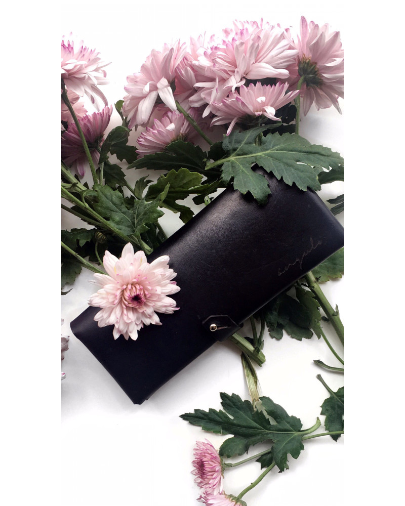 [ milano ] Leather Wallet [ Black ], Ángulo, Ángulo