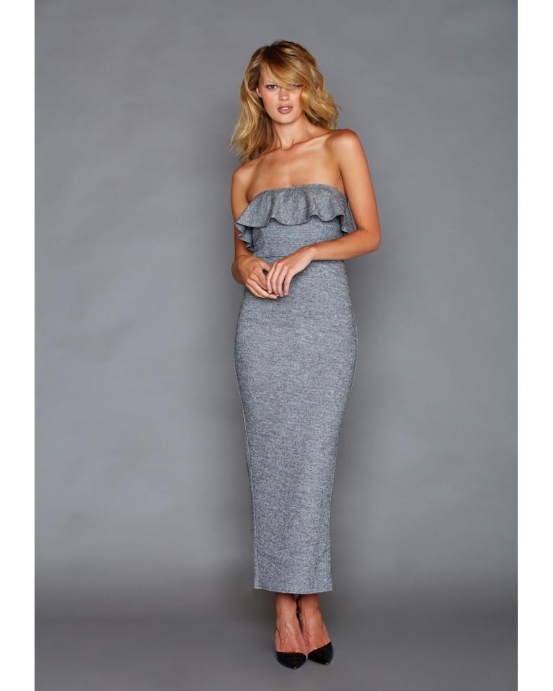 Carolina Grey Dress, FALL- WINTER 2016, Graciela Rivas