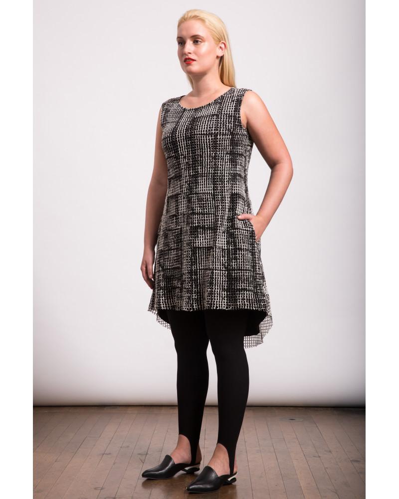 Printed Crochet Dress, Secret Sweatshirt BOKS Collection, Lobo Mau