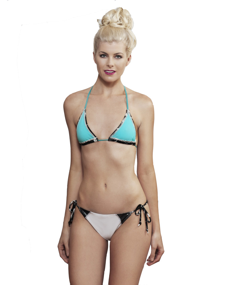 Mint Bikini Top, HOLOGRAPHIC, Rosina Mae