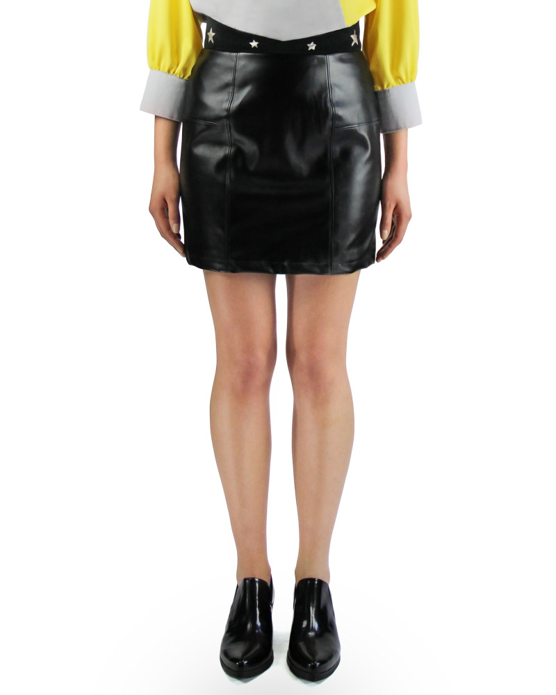Star Leather Mini Skirt, Starstruck, Meghan Hughes
