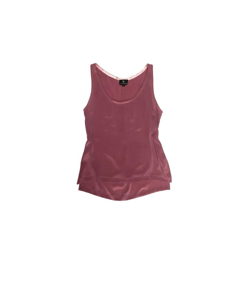 Pink Celina Silk Shell Tank, Glow, VARYFORM