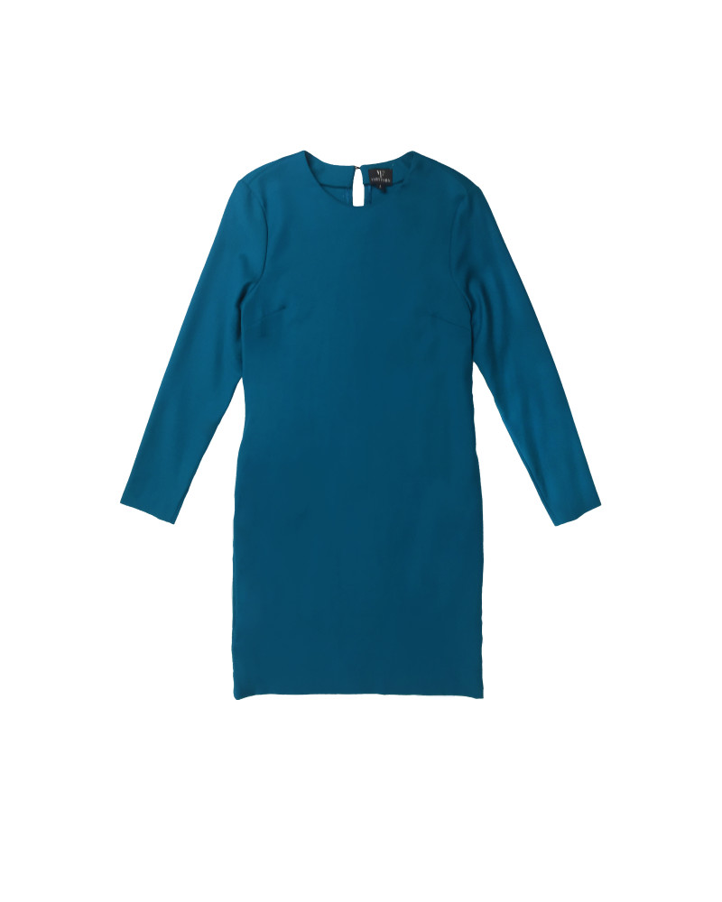 Clare Classic Shift Dress, Golden Glow, VARYFORM