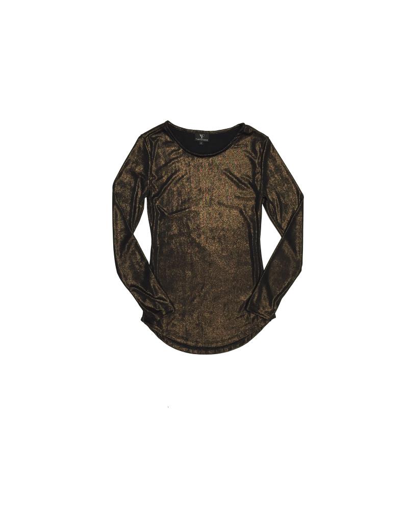 Luna Bronze Long Sleeve Top, Glow, VARYFORM