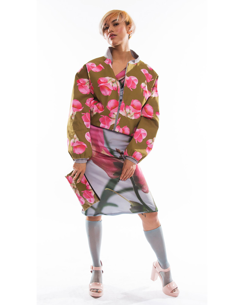 Quince Flower Bomber Jacket, Everything's Coming Up Roses, Kaer