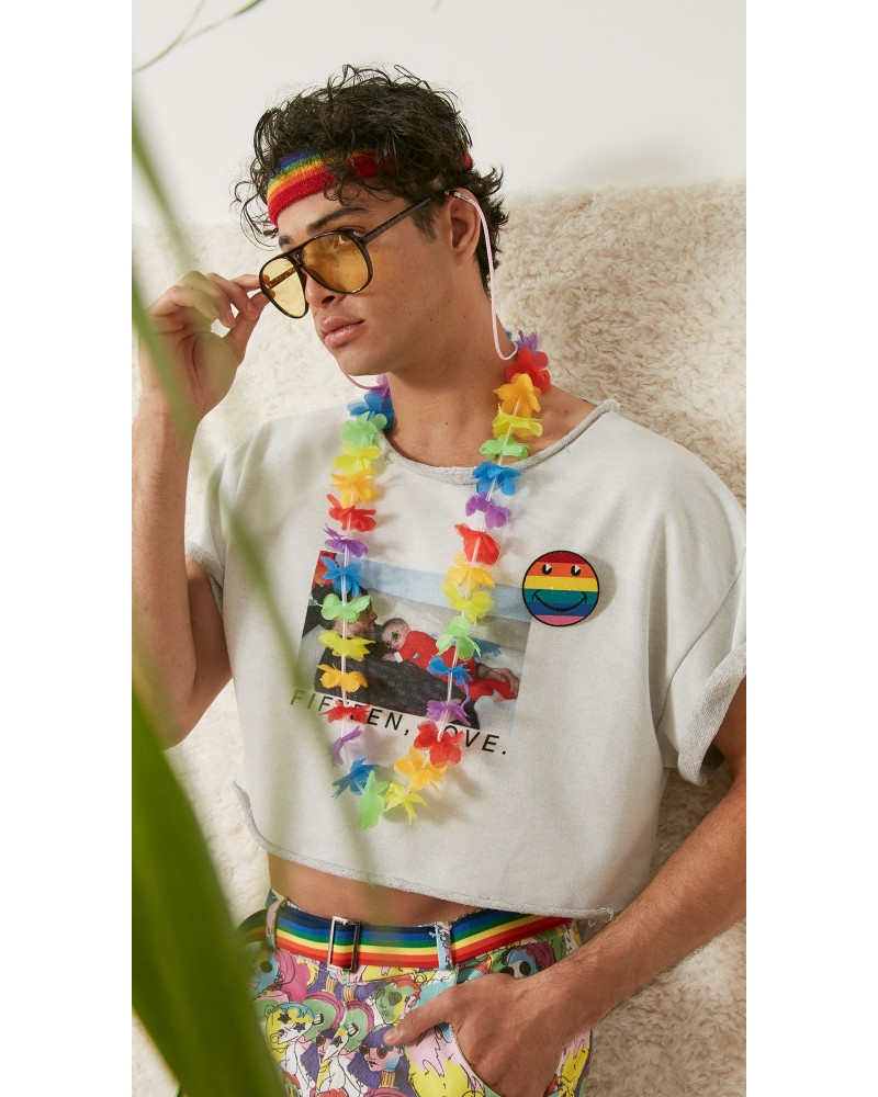 "Cropped ""Fifteen, Love"" Roll Neck Sweatshirt, S/S18: FIFTEEN, LOVE!, Adam Dalton Blake"