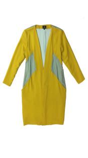 Nineteenth Amendment, VARYFORM, Golden Glow, Aquila Wool Velvet Coat, OUTERWEAR