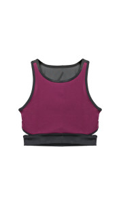 Nineteenth Amendment, ENA APPAREL, Mixed Media Batch/04, LAILA PURPLE SLASH BRA TOP, LOUNGE_BASICS