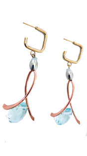 Nineteenth Amendment, Ruby Dávila-Rendón, Ruby Dávila-Rendón, Ruby Davila Gala Earrings in Aquamarine, Jewelry