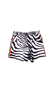 Nineteenth Amendment, Adam Dalton Blake, S/S18: FIFTEEN, LOVE!, Zebra Faux Fur Sweatshort, SHORTS